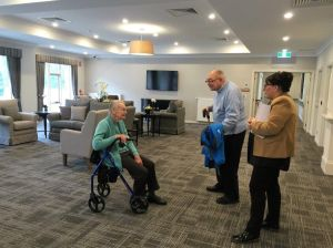 Ian and Laurel inspecting aged care accommodation