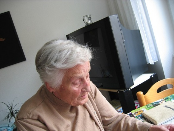 elderly lady at home