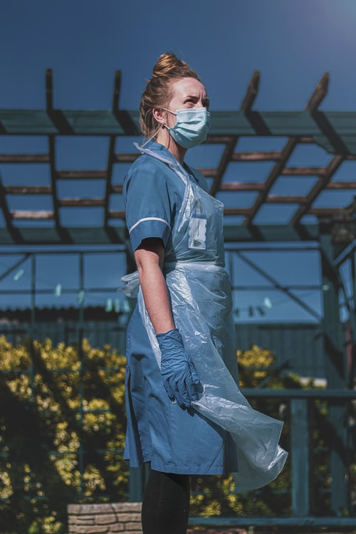 Nurse in EPA gear
