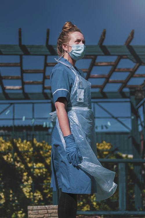 Nurse in EPA gear